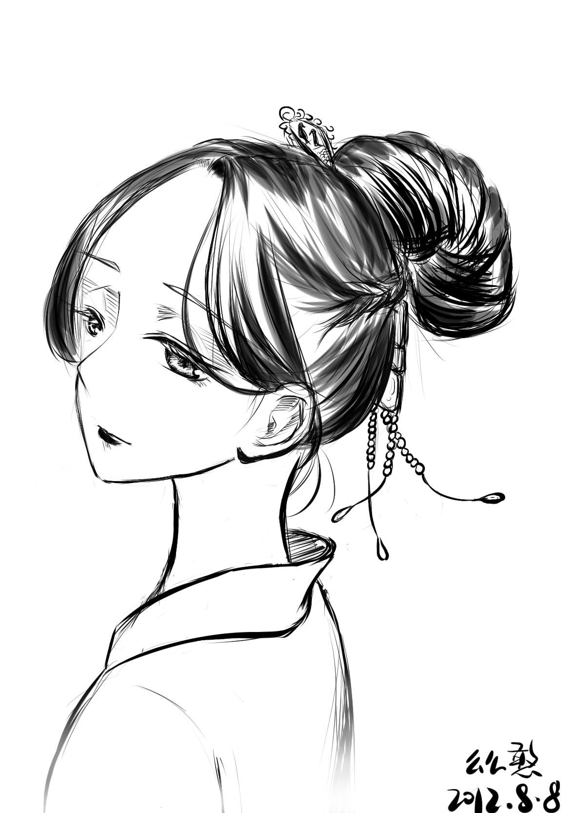 发型设计 刘海的古风扎法 > 令人心动的古风盘发(2)  令人心动的古风图片