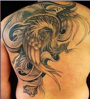3d凤凰纹身分享展示图片