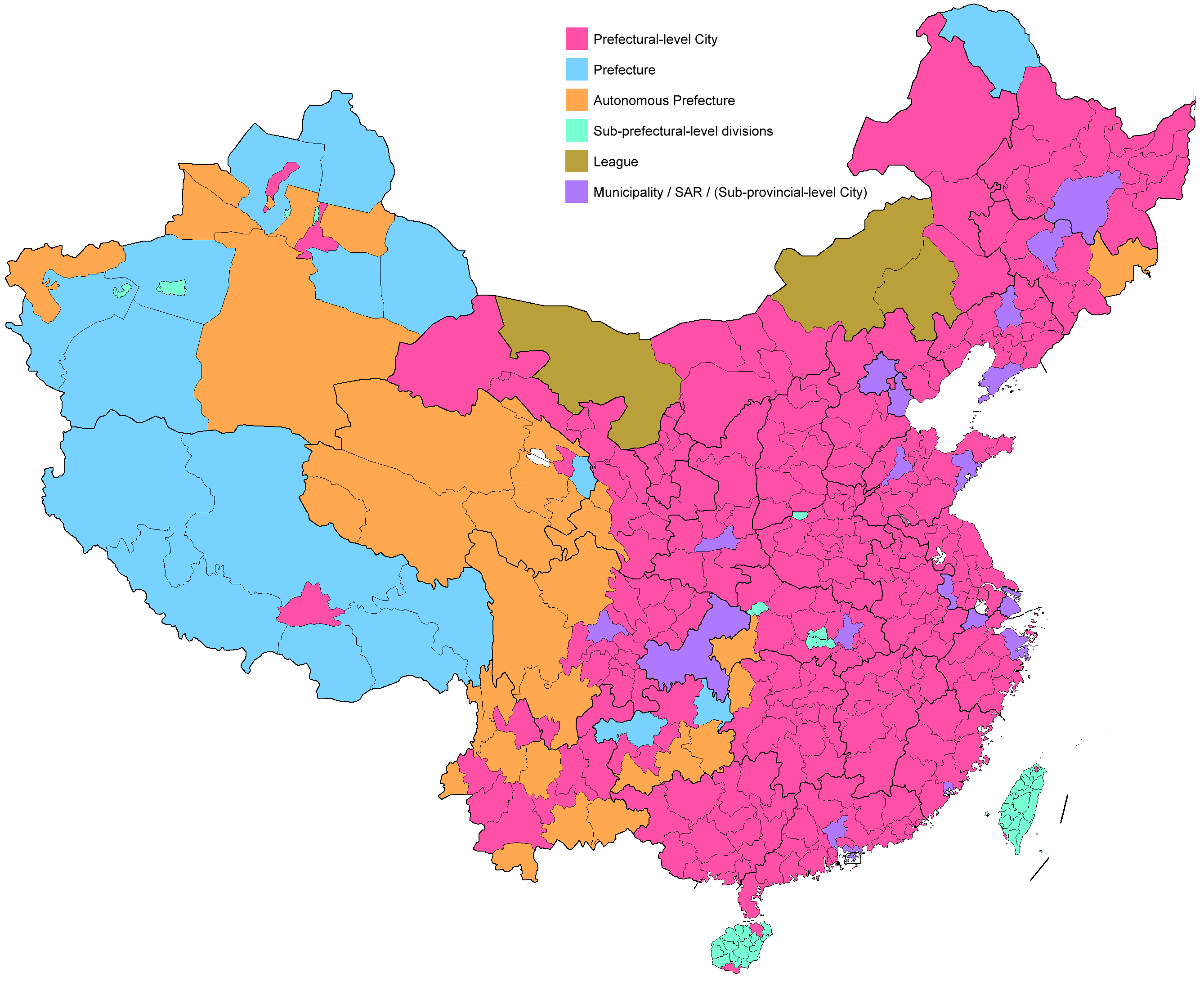 中国行政区划图(组图)图片
