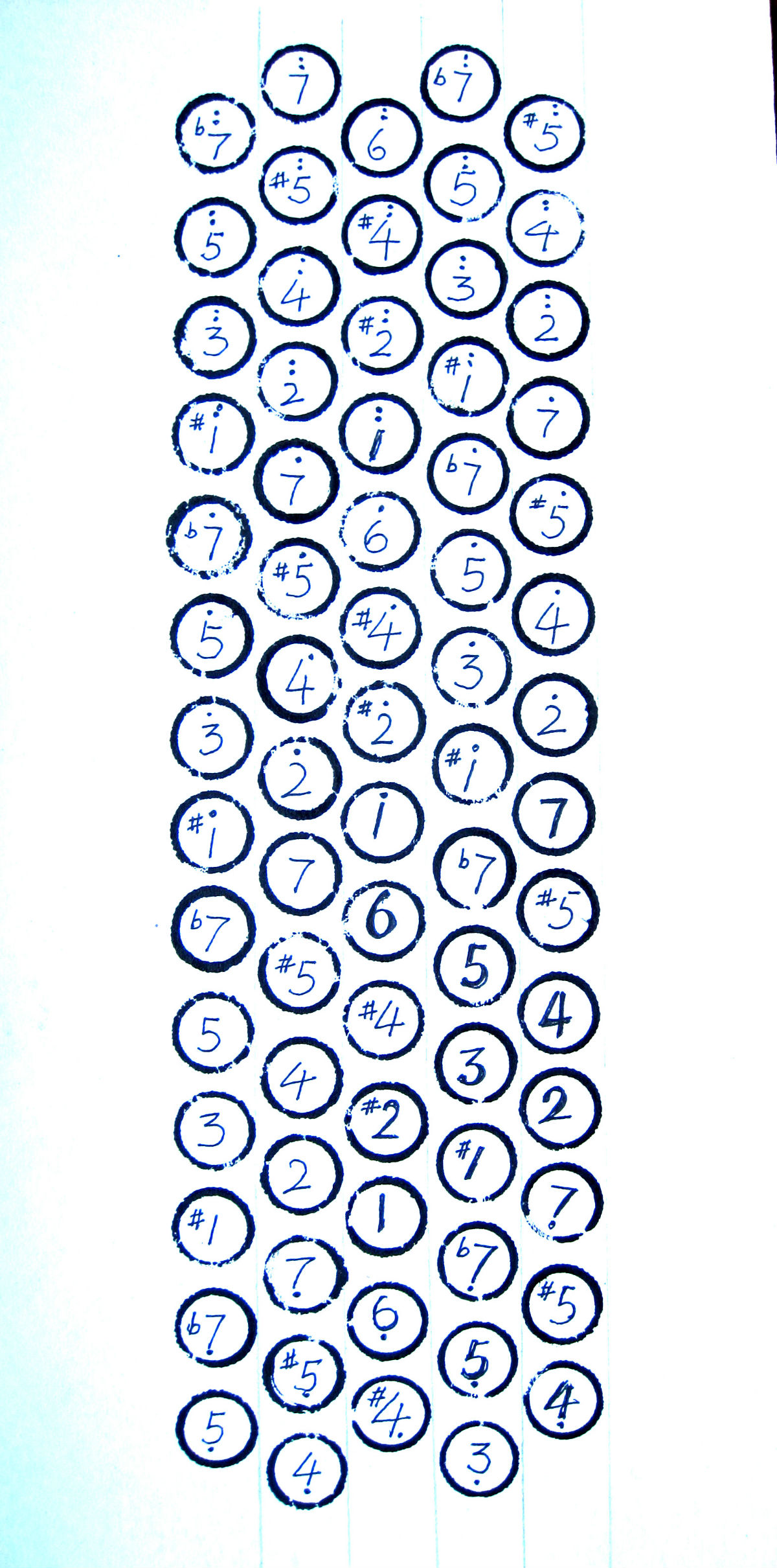 巴扬手风琴指法图解分享展示图片