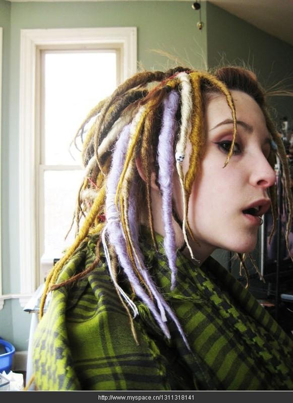 女生脏辫发型 酷酷分享展示图片图片