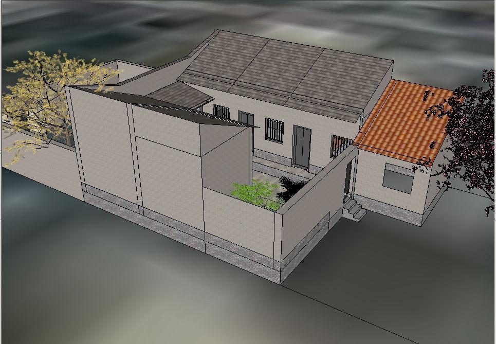 西和农村典型的瓦房室内装潢设计方案图 (965x669)-瓦房设计图