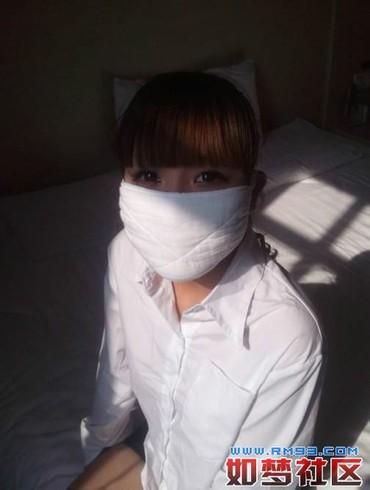 口罩女口罩蒙面口罩蒙面美女口罩美女  竖