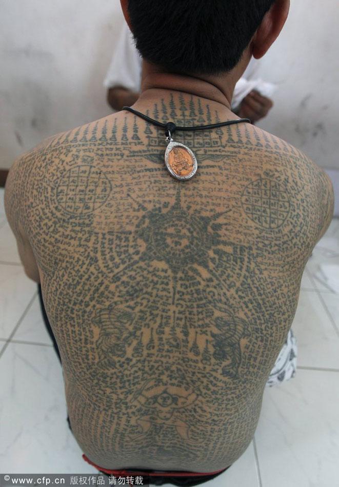 泰国佛教刺符纹身-在线图片欣赏图片