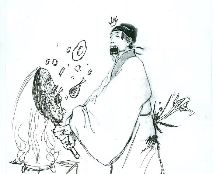 杜甫卡通简笔画