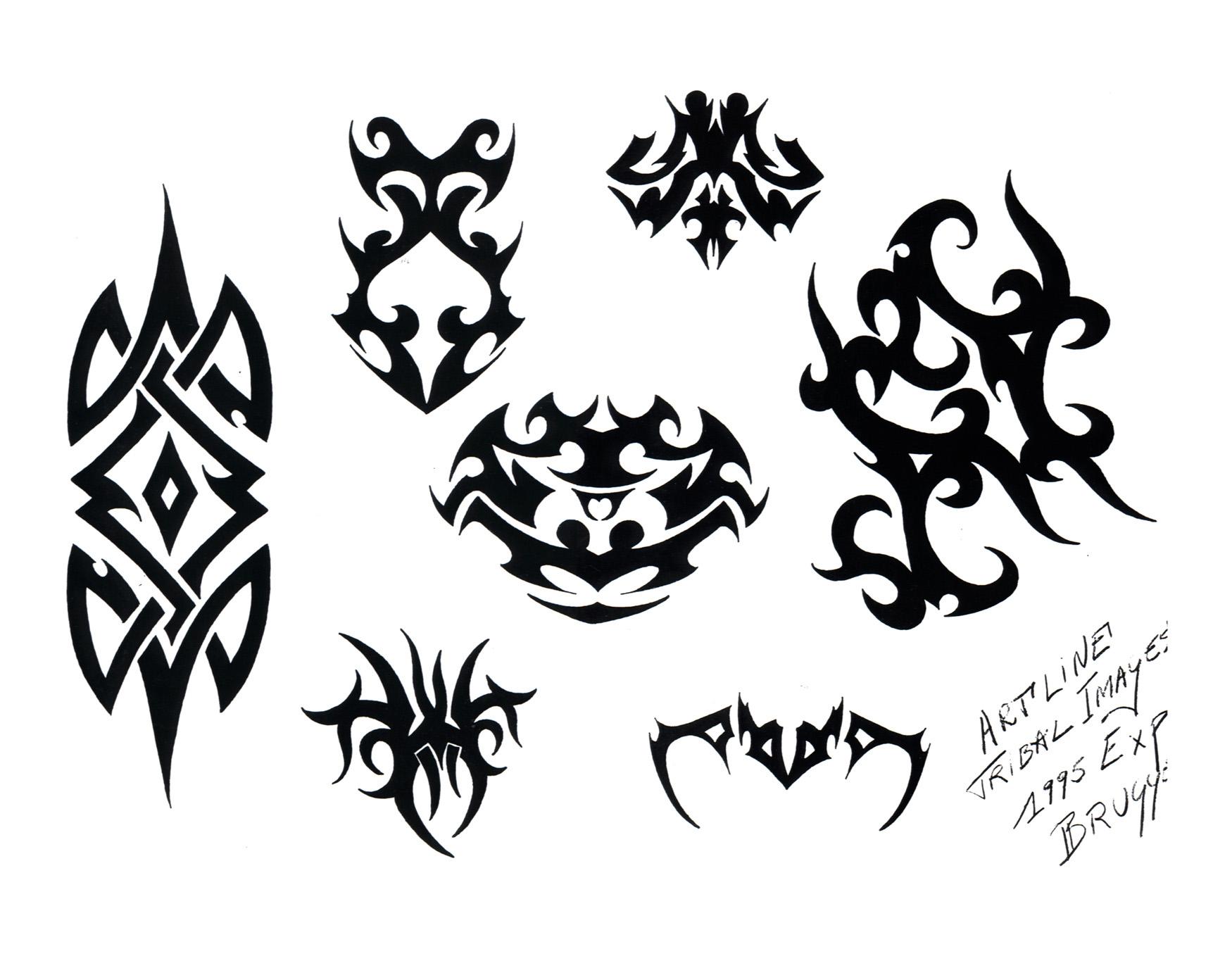 【素材图腾轴承贴---专题】---持续组合中纹身更新设计图改错图片