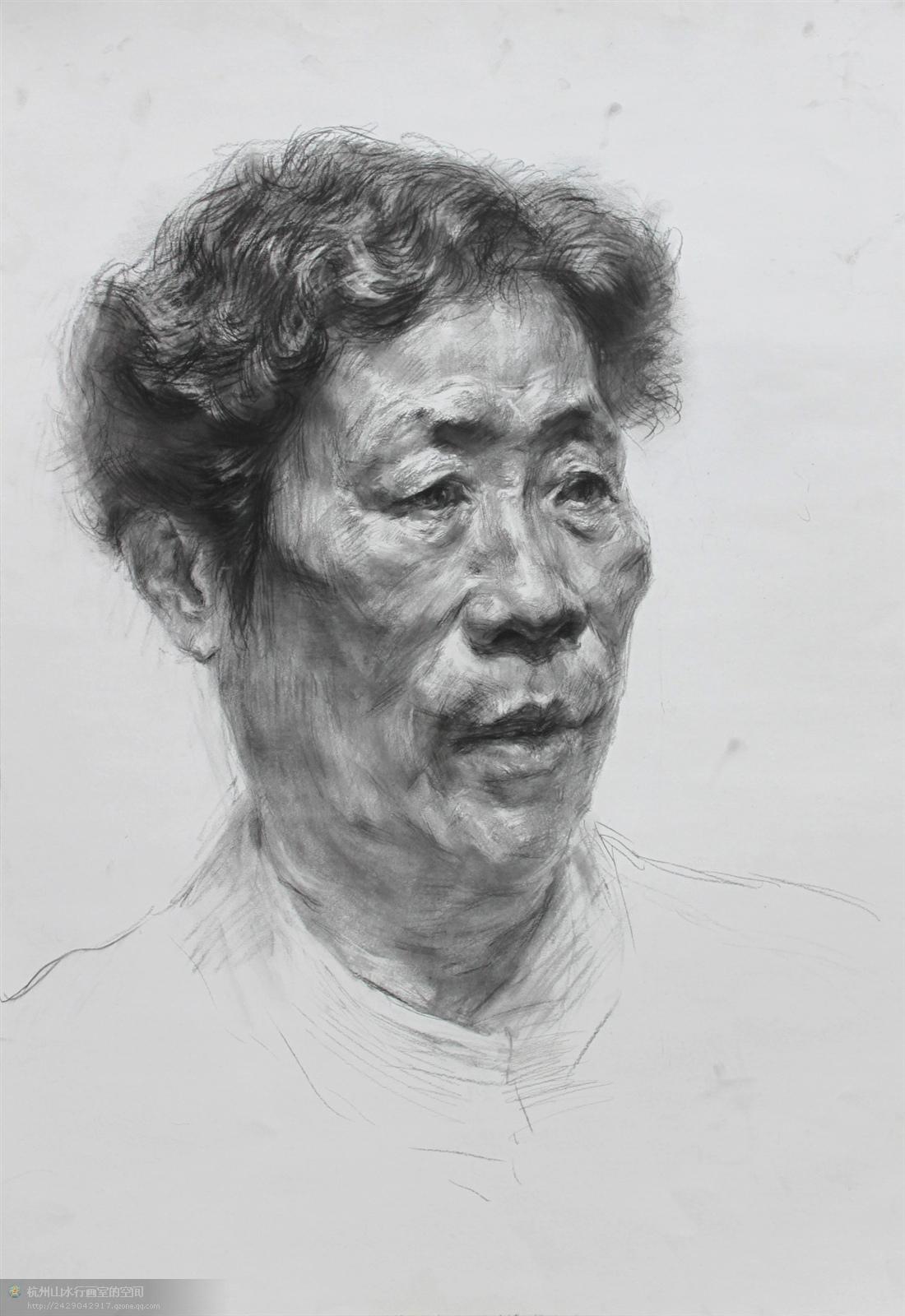 素描头像联考杭州图片