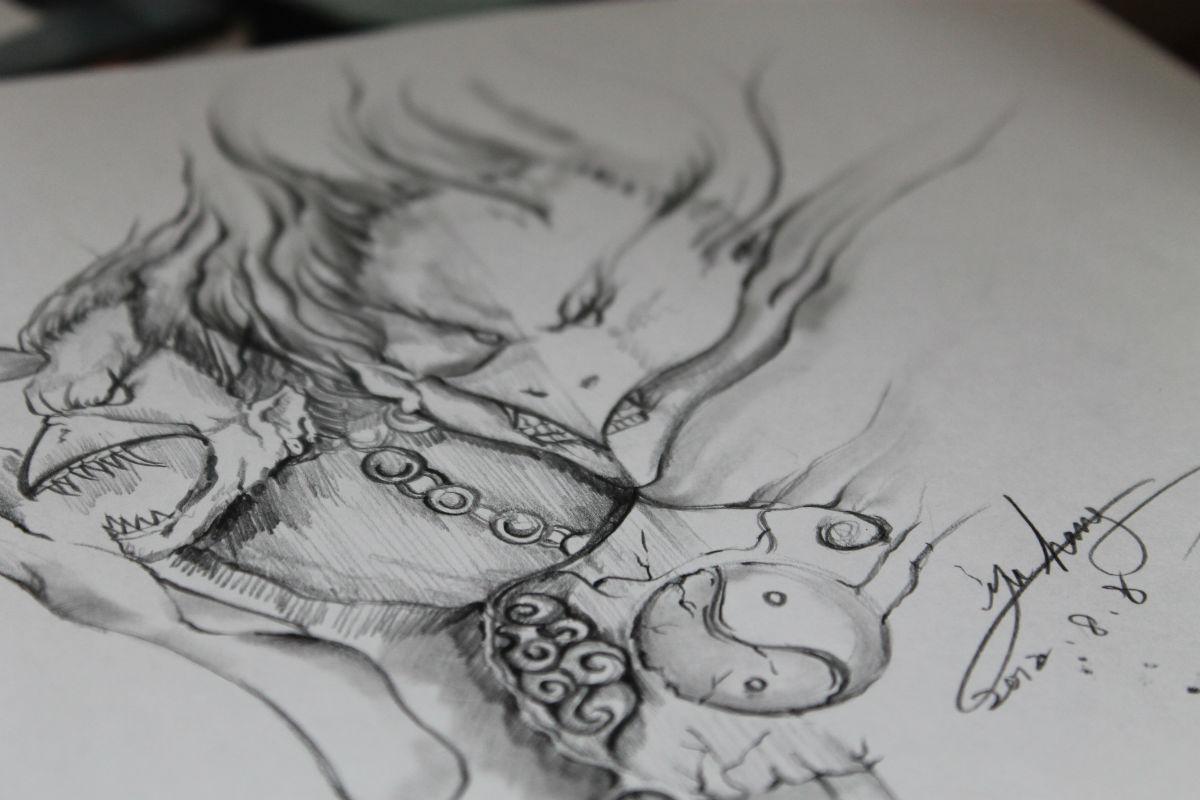 自己的纹身手稿图片