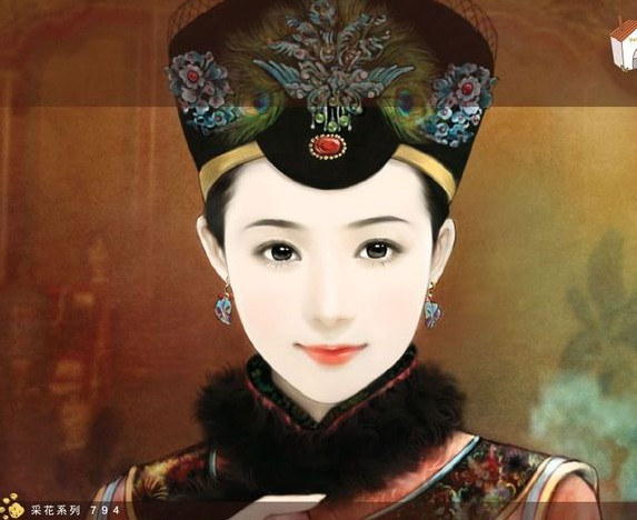 清朝皇后手绘图片_皇后成长计划