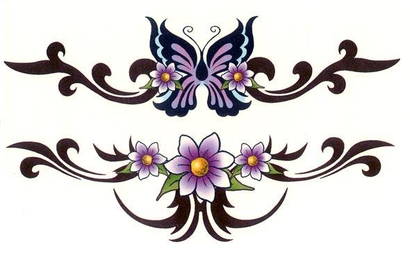 臂环花瓣纹身手稿分享展示图片