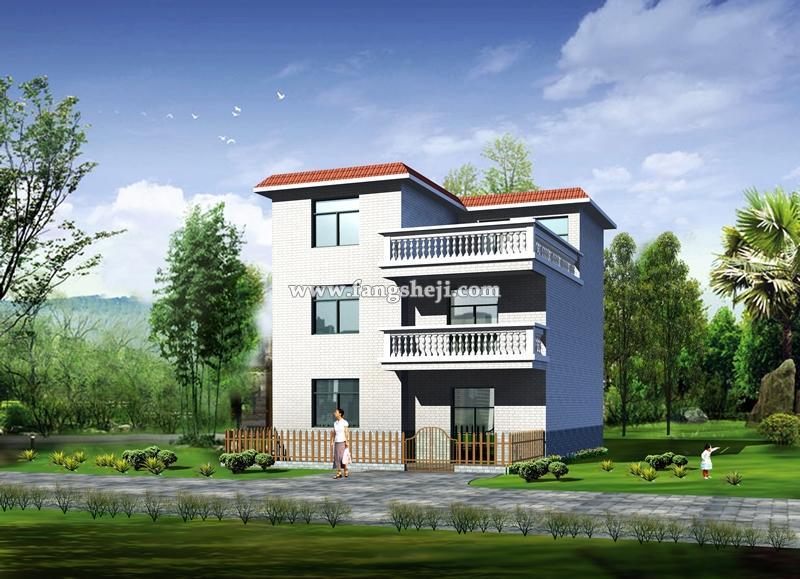 求农村两层半房屋 设计 图-当然也有农村别墅 设计 效果图 农村二层别