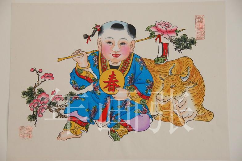 一组杨柳青年画_纹身吧图片