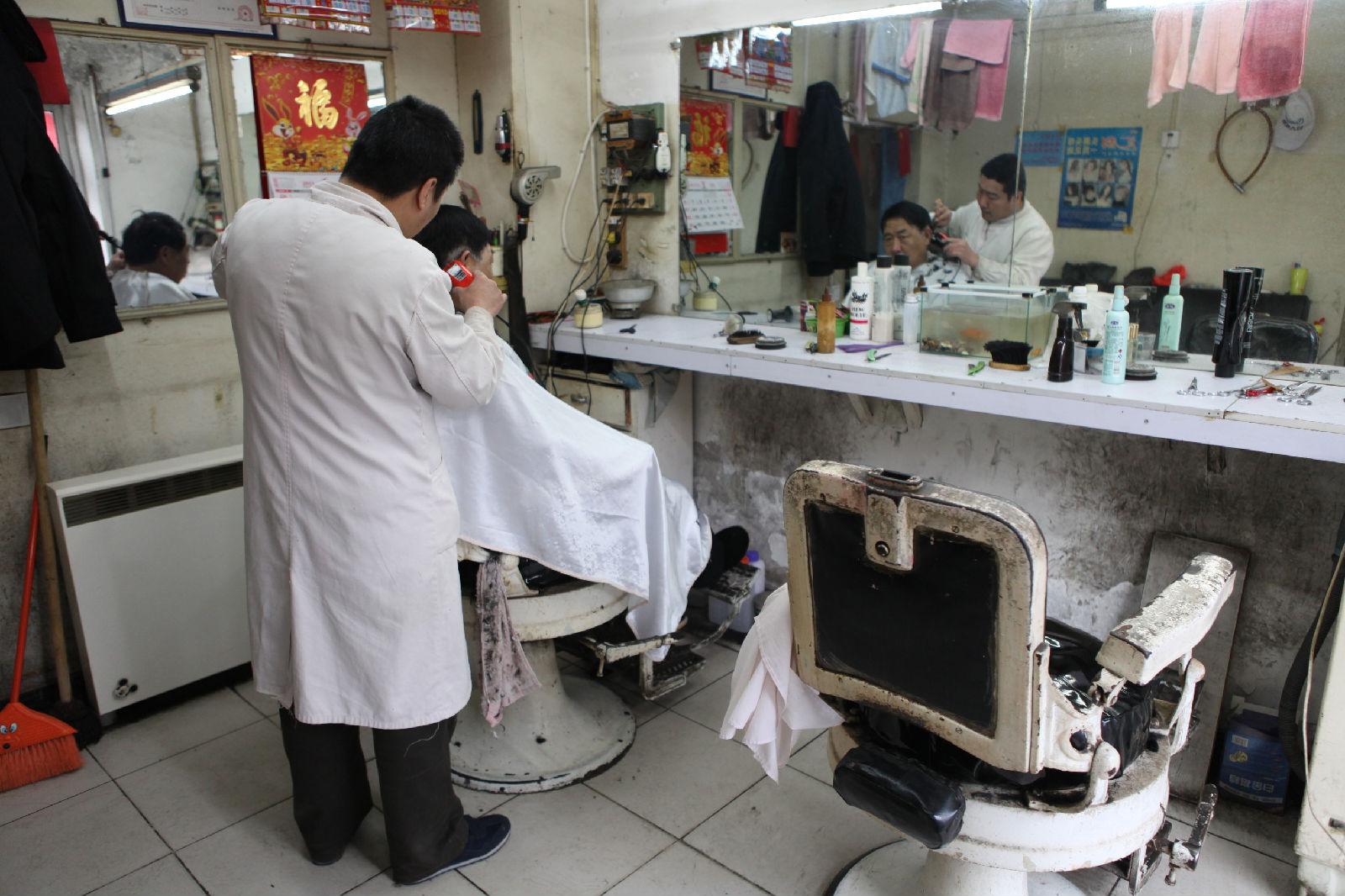 老式理发店烫发图片展示图片