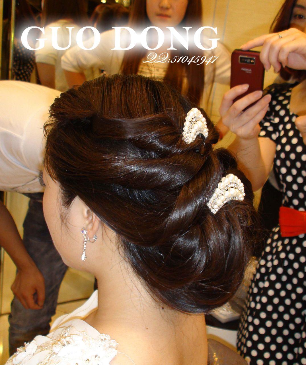 韩式手工盘发--结婚当天御用发型!图片图片
