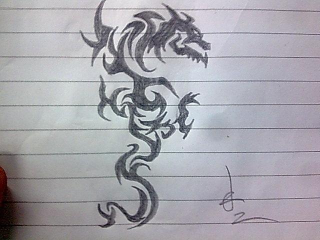 拿碳素笔画的._纹身吧图片图片