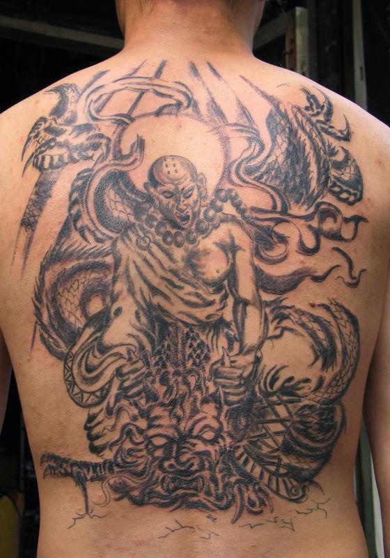 纹身手稿_纹身关公手稿_降龙纹身图案大全_哪吒降龙 ...