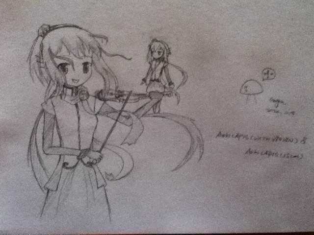 lapis与小提琴(图)图片