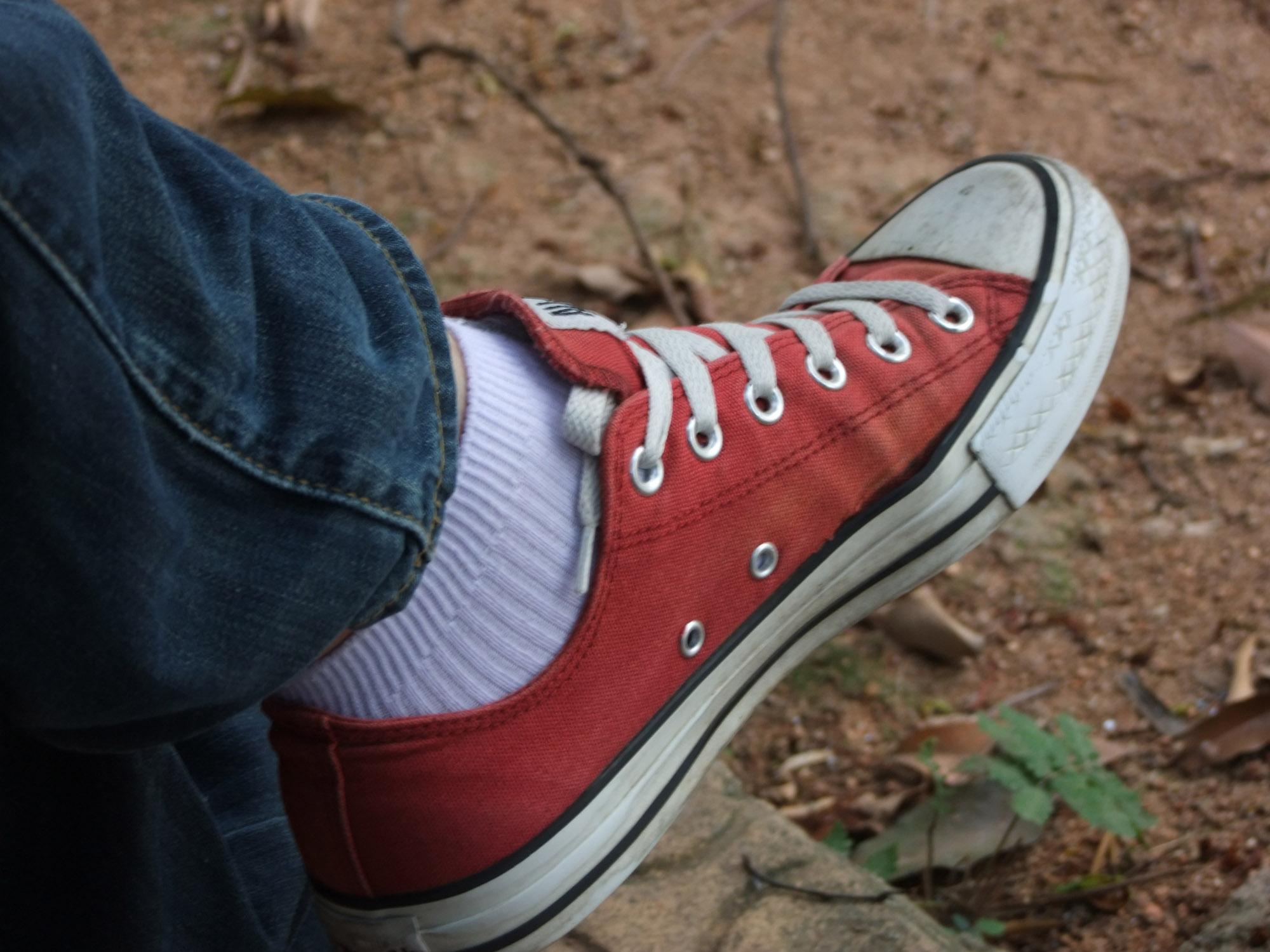 纯白白袜也可以 超爱板鞋帆布鞋