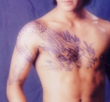 过肩龙纹身图案高清分享展示图片