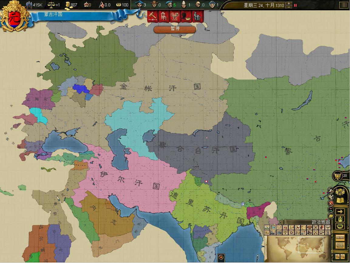 看看什么是真正的蒙古帝国吧!图片