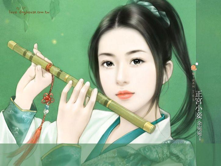 【古典风韵】手绘古装女扮男装图图片
