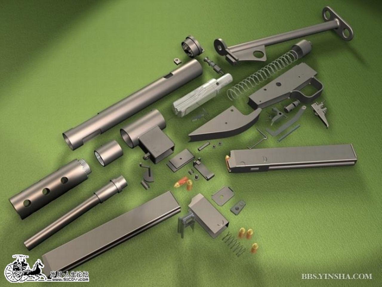 枪的构造图片展示下载