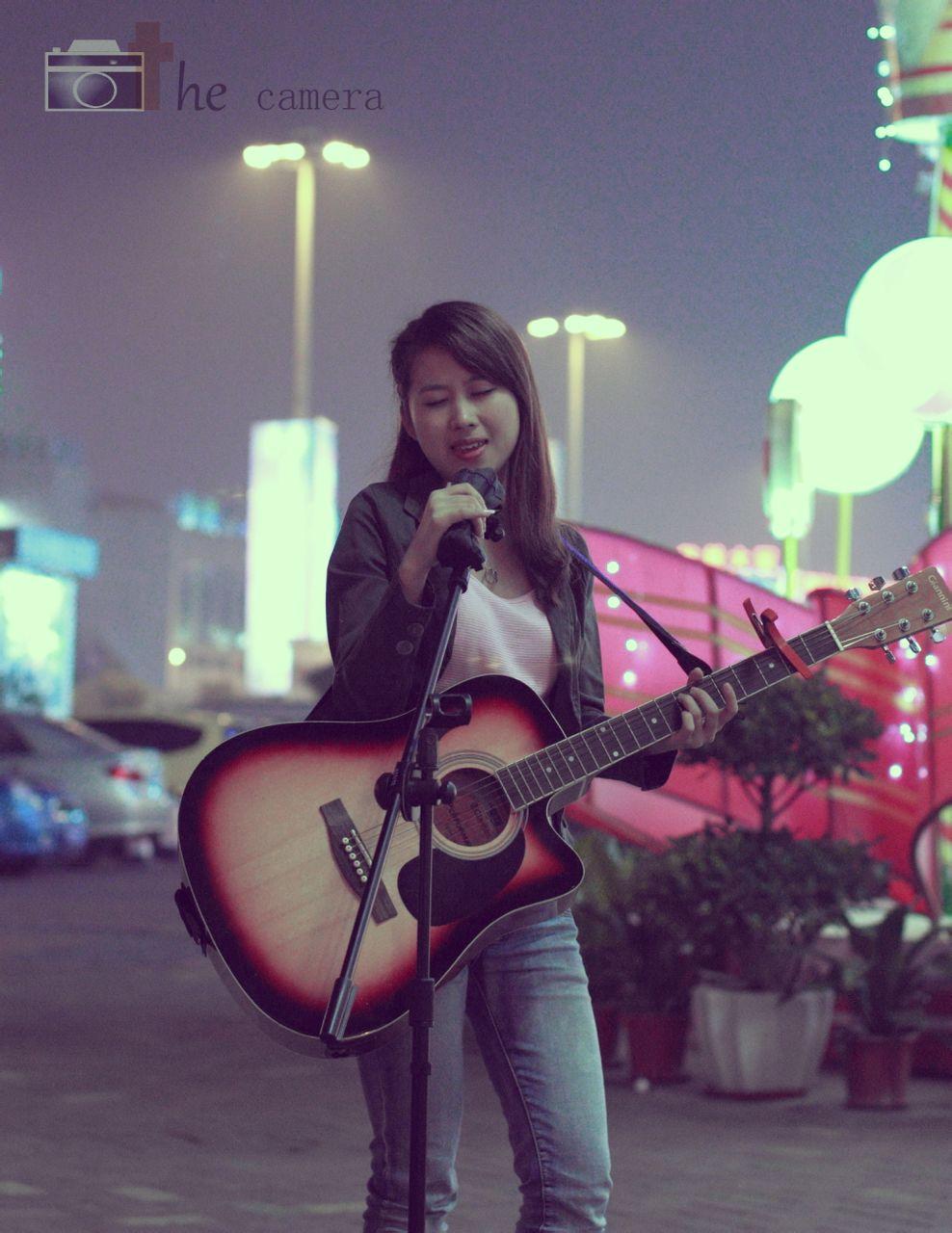 吉他 美女 肇庆学院摄影吧