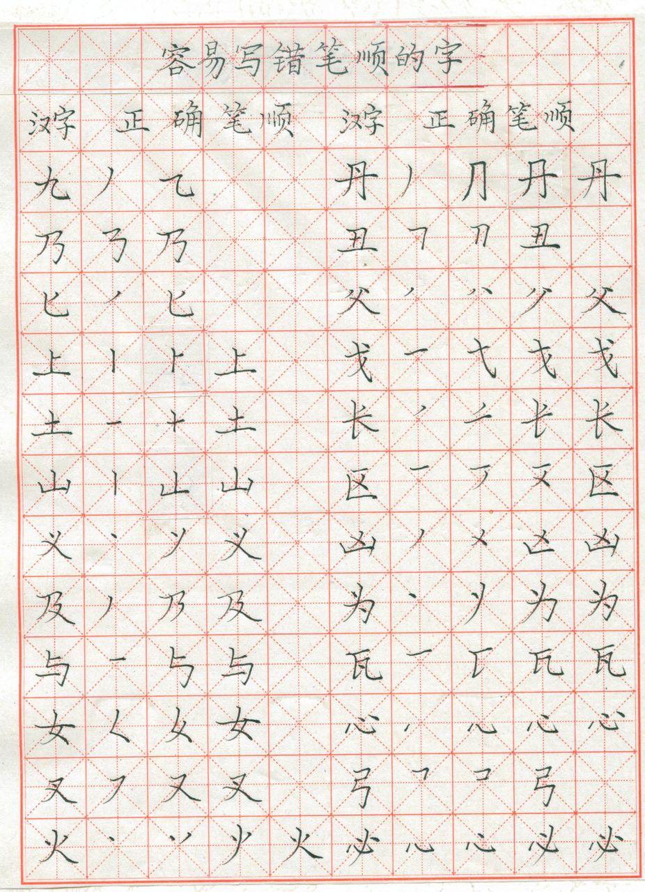 长的笔顺笔画-这13个汉字的笔画顺序,97 的学生和家长都易写错 尝试一下