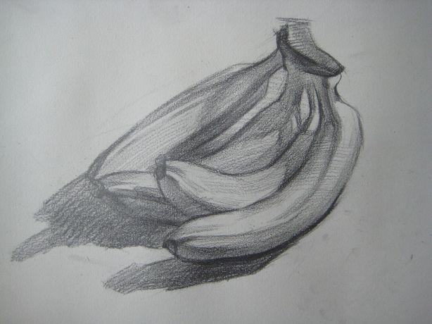 香蕉状的汽车素描 素描香蕉的画法 素描香蕉的画法视频 香蕉的素描图片