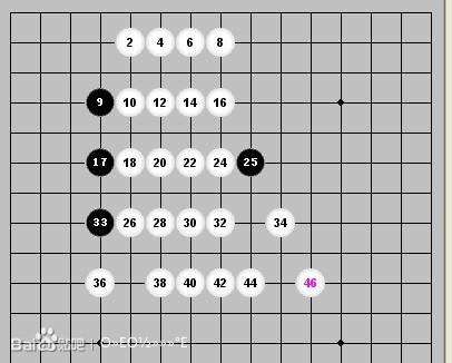 五子棋中的长连棋型图片