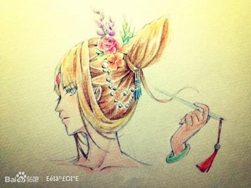 【书香海韵】手绘图图片