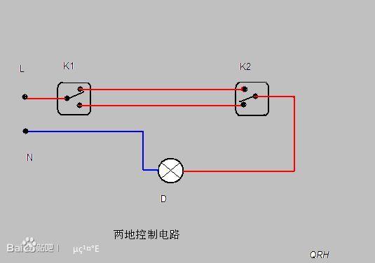 一灯三开关接线图解 4联4控开关接线图解 4联开关接线图解图片