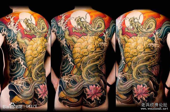 几款日本花臂半胛全胛纹身图案图片