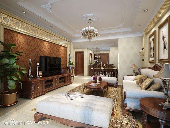 阅海万家c区 6.6万打造103平温馨简单大方的古典欧式风格 高清图片