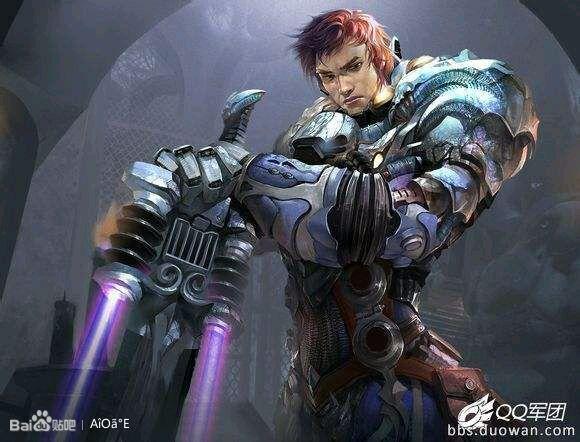 未来战士 盖伦,和ez一个等级的皮肤高清图片