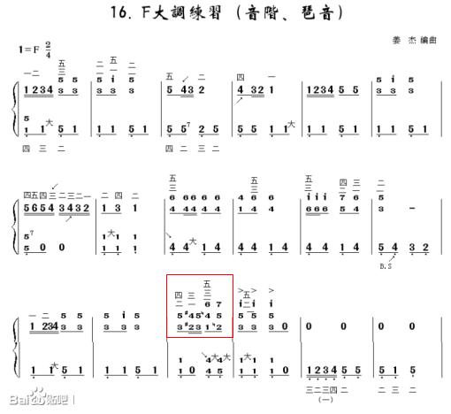 请教手风琴曲谱中的标记图片