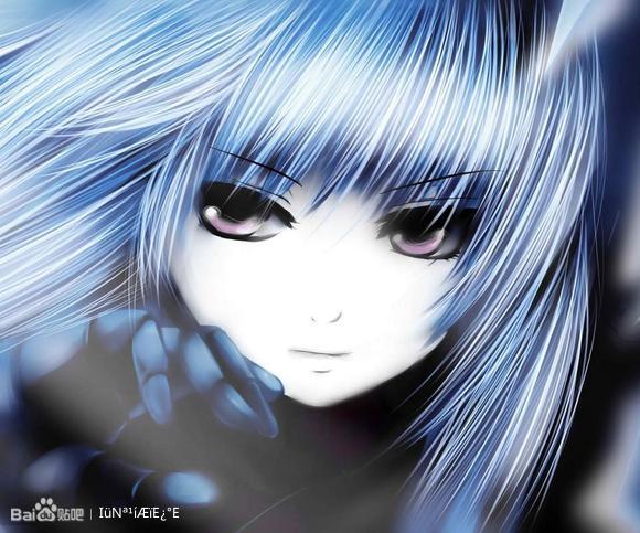 蓝发霸气少女的!