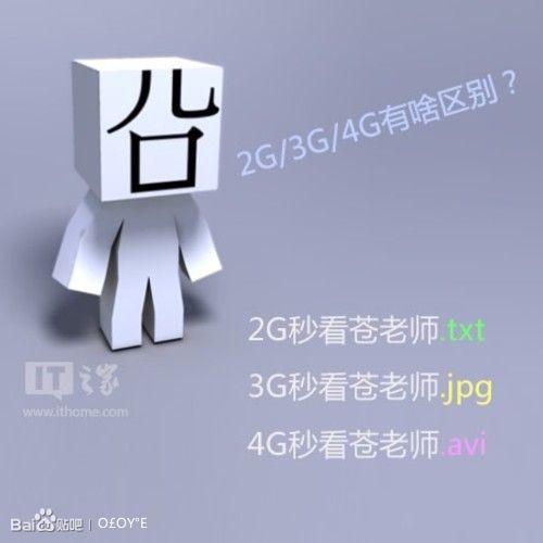 一句话告诉你手机2g/3g/4g网络的区别图片