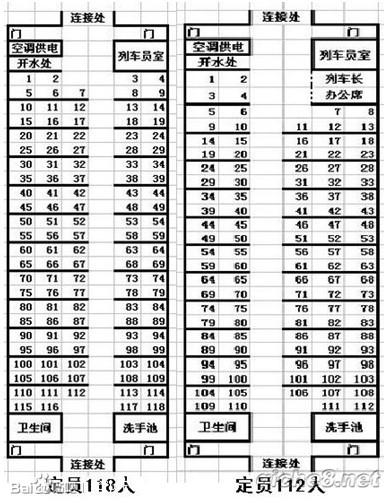 求k157次列车座位分布图 火车吧 百度贴吧高清图片