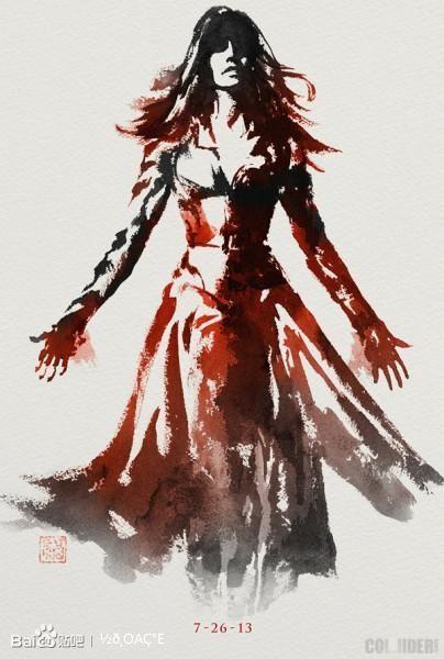 《金刚狼2》琴葛蕾的水墨画海报图片