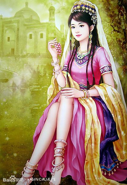 【手绘】古代美女帅哥图图片