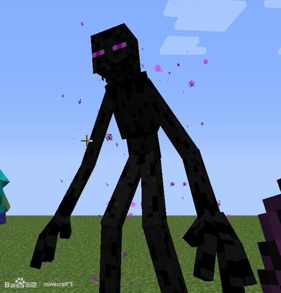 无聊 看着变异僵尸和变异末影人打架 很激烈 Minecraft吧 百度贴吧