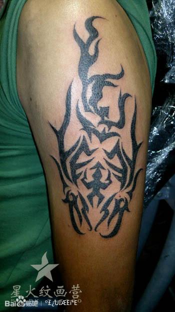 古惑仔之山鸡纹身图片