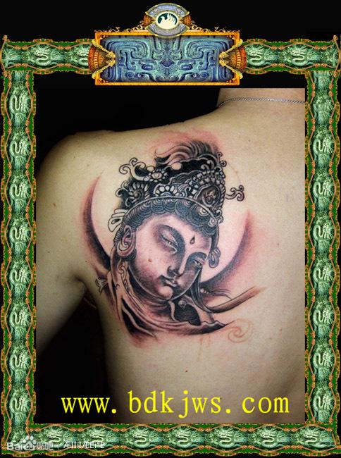 佛像纹身手稿图片