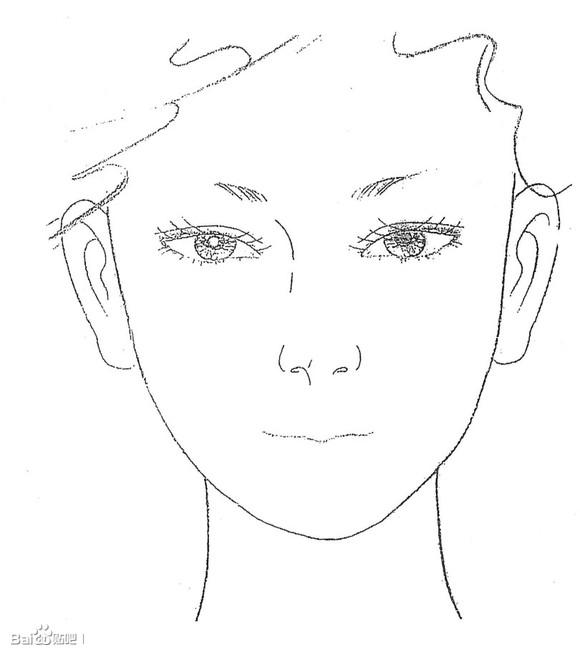 跪求化妆练习美人图