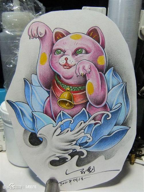 几只招财猫_纹身吧_百度贴吧图片