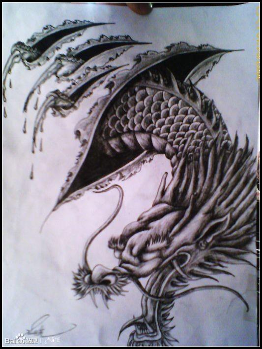 胳膊上纹身手稿有好看的嘛图片