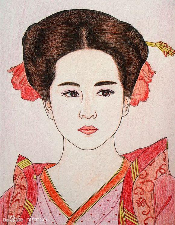 【红豆的童话】手绘彩铅画之美女明星