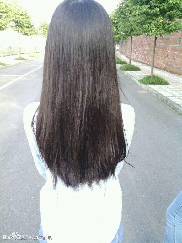 求图片】女生长直发的背影图_发型吧_百度贴吧