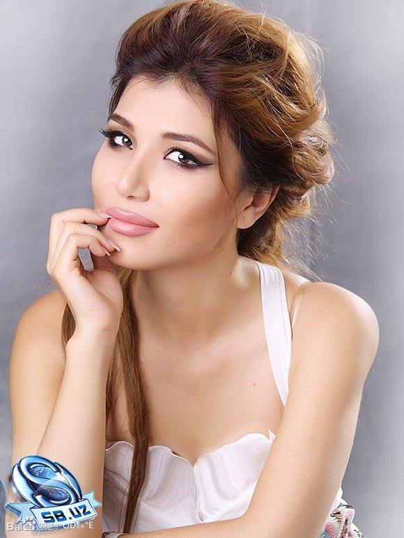 中亚乌兹别克族美女 中东吧 竖